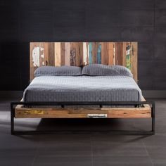 The original pops of colour on this bed handcrafted out of recycled wood sourced from former Indonesian fishing boats will brighten up and add vibrancy to a bedroom. Discover more unique beds and other treasures at www.artemano.ca