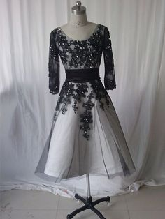 11dfa139a2 Long Sleeve Beaded Prom Dress Black Lace Prom by OnlyBride on Etsy Black Prom  Dresses