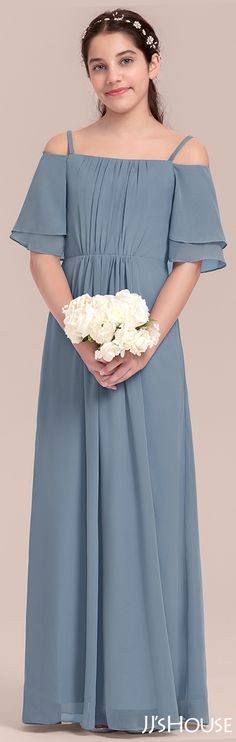51b37951eab Such a beautiful color and beautiful design of a junior bridesmaid dress!