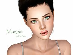 Maggie Blue female model by Ms Blue - Sims 3 Downloads CC Caboodle