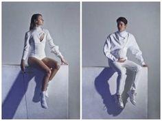 Negrini going a little more high fashion on their fencing uniform design idea.