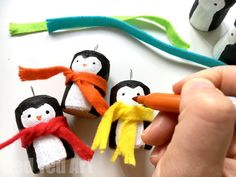 cork ornaments - penguins
