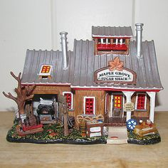 Lemax christmas vail village building maple grove sugar shack house condition…