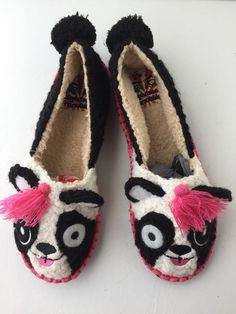Tigerbear Republik Shoes 8.5 M Womens Slippers Beastie Bestie Pandarama New #TigerBearRepublik #SlipperShoes
