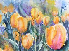 Der Mai ist Tulpenzeit | BUGA Auslese (c) Aquarell von Hanka Koebsch
