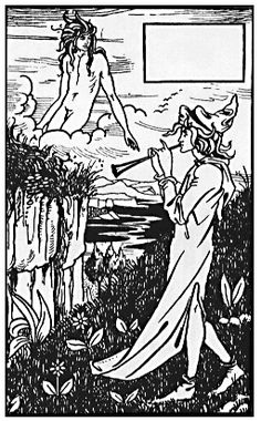 Vignette from 'Le Morte d'Arthur', by  Aubrey Beardsley