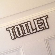Toilet sign hama beads by mariaulriksen