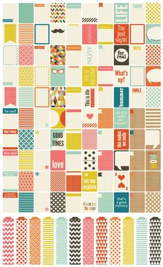 kraft sampling - oh, i can't wait for this to come out! love the colors and all the patterns; just my style!