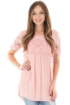 Lime Lush Boutique - Rose Sheer Blouse with Lace Trim, $36.99 (https://www.limelush.com/rose-sheer-blouse-with-lace-trim/)