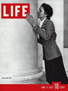 "Life magazine cover from June 21, 1937,  bearing the caption, ""Reno Divorce Wife."""
