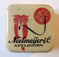 Vintage typewriter ribbon tin.