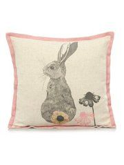 George Home Pink Edge Bunny Rabbit Cushion  43x43cm