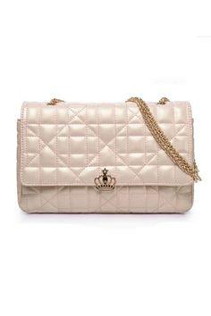 Aristocratic Ladies Chain Lock Bag In Pink #vegan #leather #purse #handbag #bag $41  CLICK TO BUY!