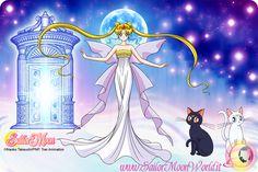 Neo-Queen Serenity, Luna, and Artemis.
