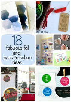 18 fabulous fall and back to school ideas to get you started on your back to school organizing and fun!