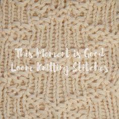 Stepped Diamonds Stitch Loom knit Round Loom Knitting, Loom Knitting Projects, Loom Knitting Patterns, Yarn Projects, Stitch Patterns, Knitting Looms, Knitting Ideas, Types Of Knitting Stitches, Sewing Stitches