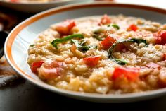 Tomatoes make a great base for a luxurious summer risotto.