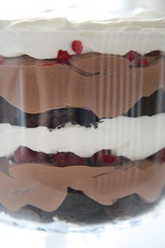 Eat Well, Live Happy: Chocolate Raspberry Trifle