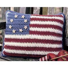 Stars & Stripes Crochet Pillow Pattern ePattern