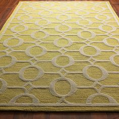 Indoor Outdoor Carved Ellipse Rug: Love the citron and cream and the YHL0811 10% off coupon!