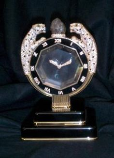 Art Deco style Cartier Mystery Clock