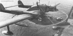 German seaplane   This is yet another strange aircraft used by the Germans during the Second World War.