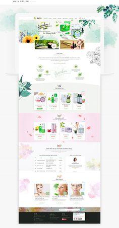 Cosmetic website design Greenbon on Behance – cosmeticgirl Website Design Inspiration, Simple Website Design, Website Design Layout, Web Layout, Website Designs, Beautiful Website Design, Design Ideas, Cosmetic Web, Cosmetic Design