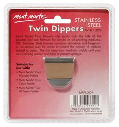Mont Marte Stainless Steel Twin Paint Dippers w/Lids Art Shed, Painting Accessories, Online Painting, Asd, Cool Diy, Christmas Decorations, Decor Ideas, Stainless Steel, Fine Art