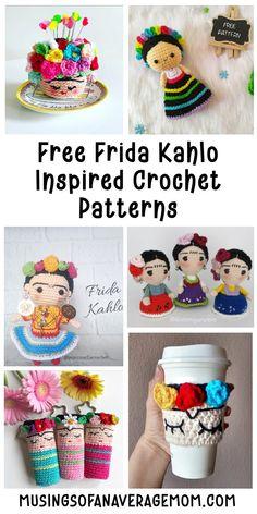 14 Free Frida Kahlo Crochet patterns Teen Crafts, Crafts For Teens, Free Crochet, Knit Crochet, Crochet Hats, Crocheting, Free Pattern, Crochet Patterns, Crafty