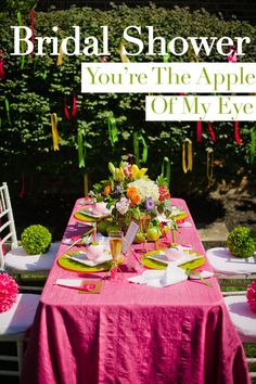 youre the apple of my eye bridal shower