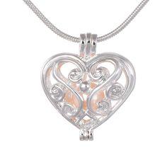 $20 heart cage pearl  pendant