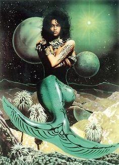 Mermaid on the Moon
