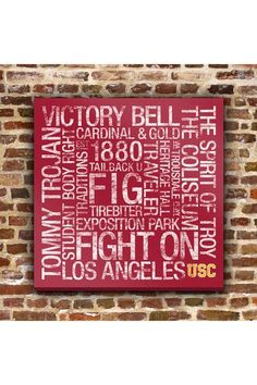 Father's day pick: USC College Colors Subway Art - 24 x 24 by Fathers Day Fan Favorite on @HauteLook