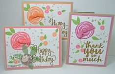 In Color Swirly Flowers by Chris Slogar - Cards and Paper Crafts at Splitcoaststampers