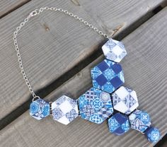 SOLY CAT-COLLIER EFFET FAIENCE AZULEJOS