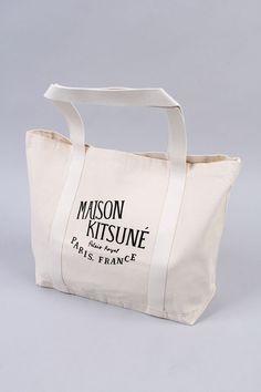 MAISON KITSUNE PALAIS ROYAL CANVAS BAG (SS14-KT-220-CB-E) - セレクトショップ|DeepInsideinc.com Store