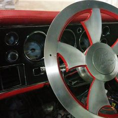 #BecauseSS red black chevelle dash custom pad wrapped