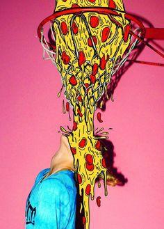In yer face ! Pizza Kunst, Vapor Art, Pizza Art, Draw On Photos, Arte Pop, Psychedelic Art, Trippy, Digital Illustration, Art Inspo