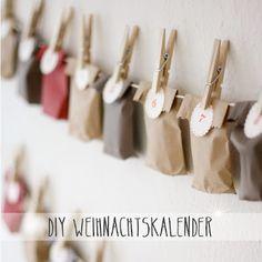 DIY Weihnachtskalender + How to Christmas Calendar, Christmas Love, Christmas Countdown, Christmas Deco, Winter Christmas, Xmas, Advent Calenders, Diy Advent Calendar, Kids Calendar