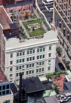 "New York City rooftop Gardens: ""The School of the Futur""  building at 127 East 22nd Street"