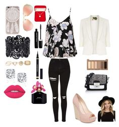 """""""Summer Date"""" by zutaruza on Polyvore featuring Topshop, Ally Fashion, Jolie Moi, Jessica Simpson, Karl Lagerfeld, Ray-Ban, RHYTHM, Alexa Starr, Urban Decay and Lime Crime"""
