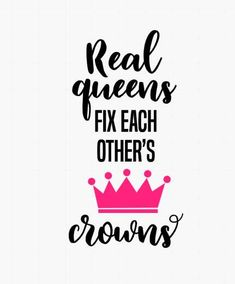 Real queen fix each other's crowns // Queen stickers / Queen decal / Stickers for girls / Inspirational quote sticker / Yeti decal for women Babe Quotes, Up Quotes, Sassy Quotes, Queen Quotes, Woman Quotes, Quotes To Live By, Funny Quotes, Quotes Women, Diva Quotes