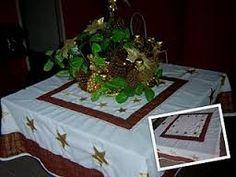 Resultado de imagem para toalhas de mesa de natal em patchwork