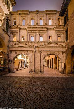 Porta Borsari, Verona, Italy. Ancient roman gate.