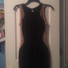 Nasty Gal Jumpsuit WORN ONCE  Black jumpsuit/ mesh sides/ deep plunge back Nasty Gal Other