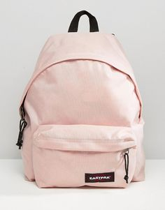 Padded pak r in blush pink by Eastpak. Backpack by Eastpak Fabric outer Grab handle Adjustable padded straps Zip around closure External...