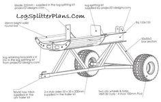 High Top Log Splitter CAD Plans