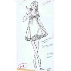 Homecoming Queen Lingerie Drawing 1960's #vintage #fashion
