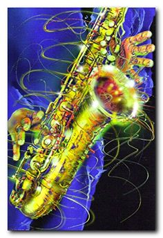 Spruce up your home wall with this unique style Jazz painting musical instrument wall décor art print poster. This beautiful poster will be a stunning and elegant addition to any home. This wonderful wall art will help to bring musical vibe to your space wherever it is placed. This poster captures the image of American trumpet instrument & music sheet lying on American flag which instantly draws attention towards it and grab lot of attention.