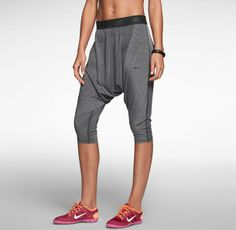 Loose Fit Womans Athletic Capris. If you're not into tight fitting athletic wear, try these Nike's out.